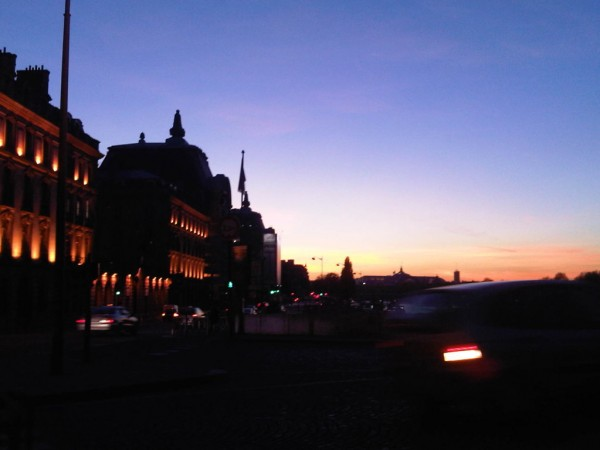 derniers rayons de soleil sur Paris