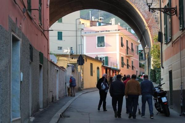scène de vie à Nervi; à proximité de gênes