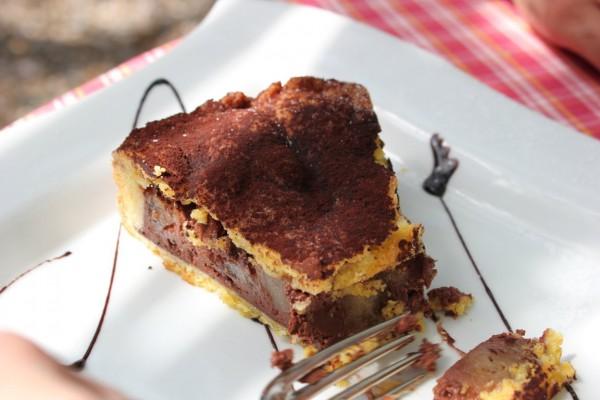 dessert poire chocolat au restaurant à milan