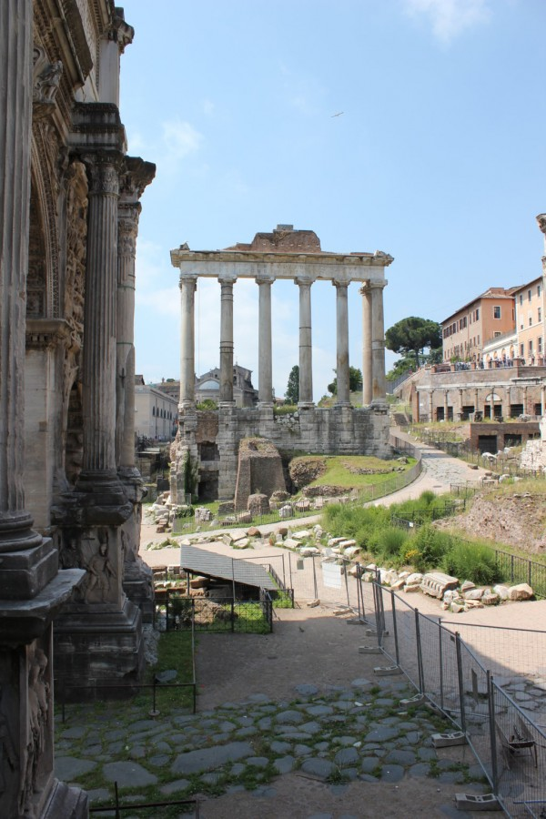 perspective du Forum de Rome