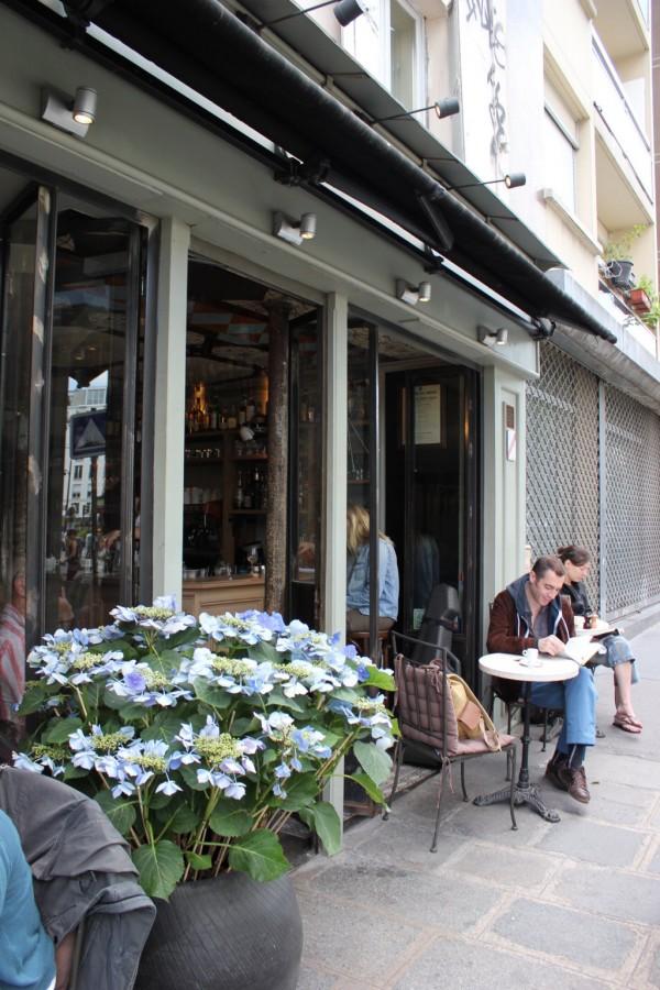 les enfant perdus, vue prise à l'exterieur du restaurant à Paris