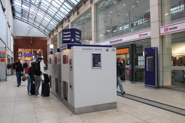 Consigne dans la gare de Cologne