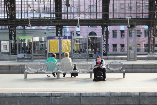 Scène sur le quai à Cologne