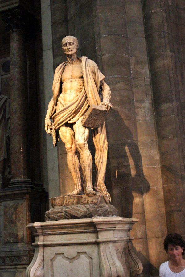 statue écorché vif à milan