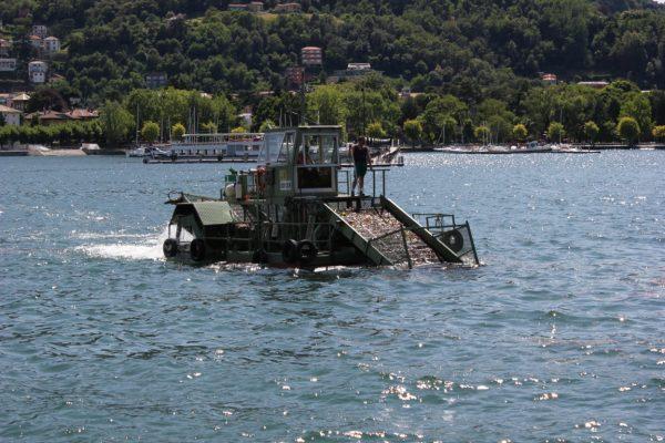 bâteau sur le lac de Côme