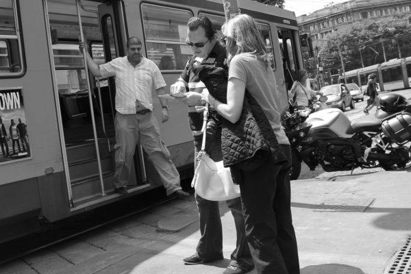 descente du tramway
