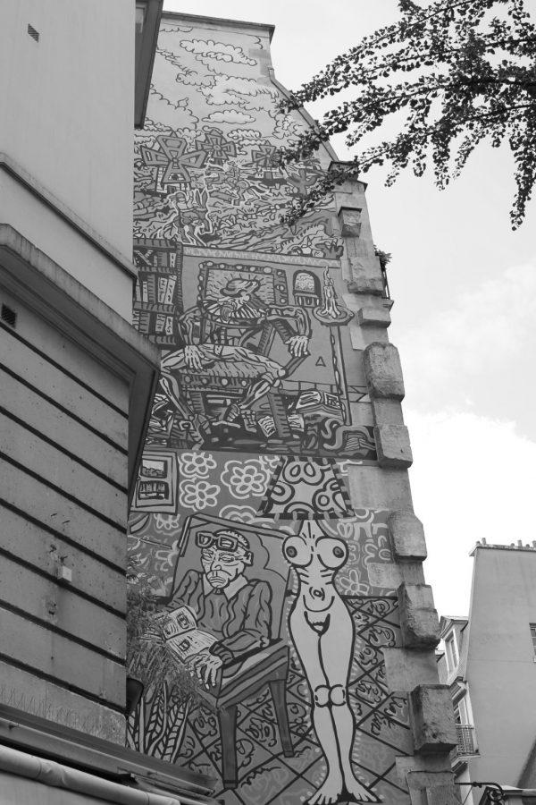 fresque artistique marais paris