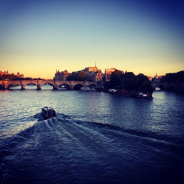 #paris #boat #seine #iloveparis #weekend #romantic #sunset #water